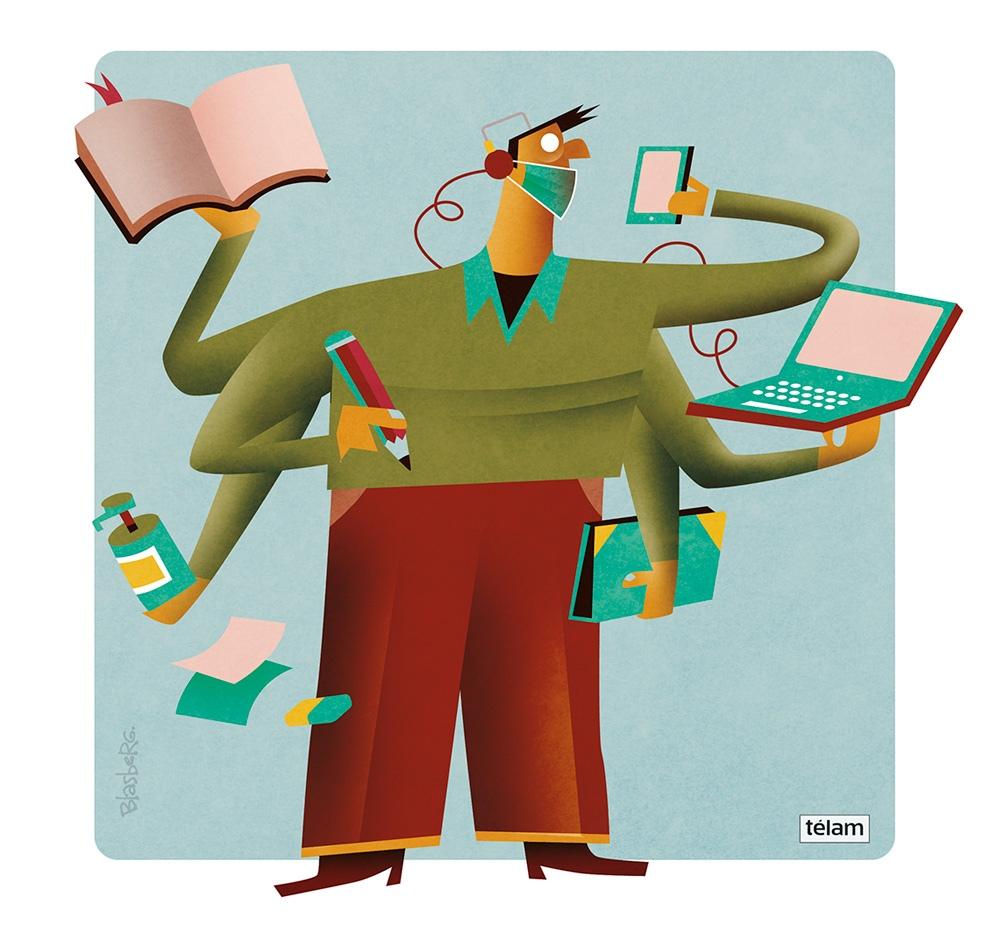 En pocos días, alumnos y docentes volverán a encontrarse cara a cara, tras un año  en el que la educación mutó pizarrón por pantalla y tiza por mouse.