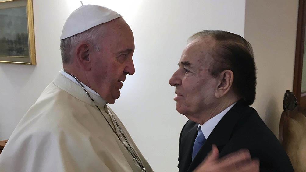 En una visita al Papa Francisco, en 2016.
