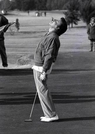 En al final de su vida deportiva tuvo al golf como su favorito.