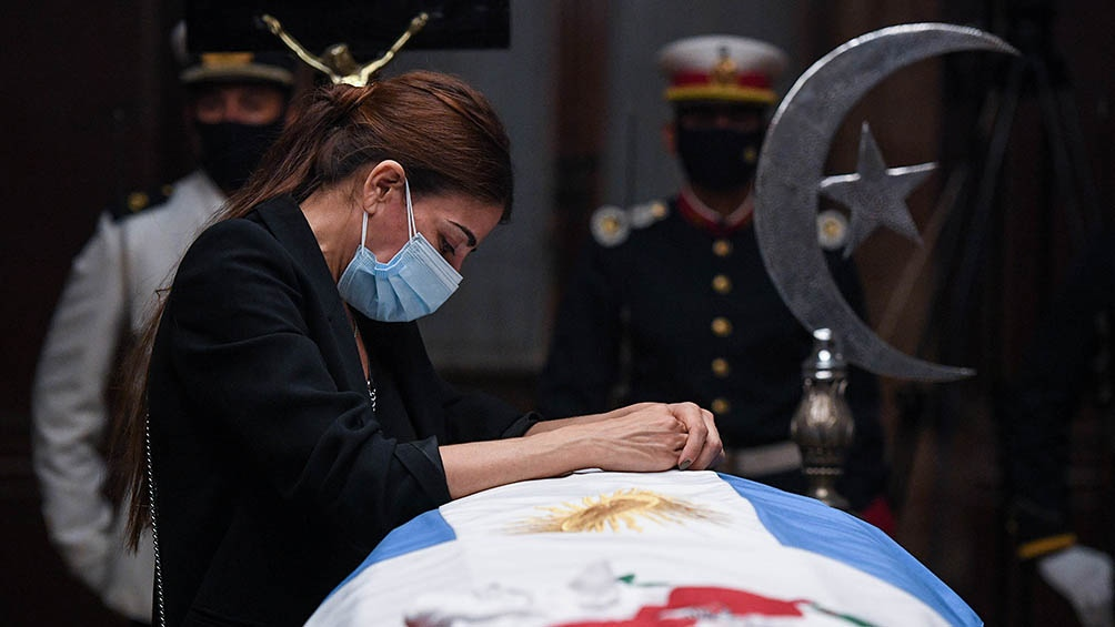 El dolor de Zulemita Menem, su hija.