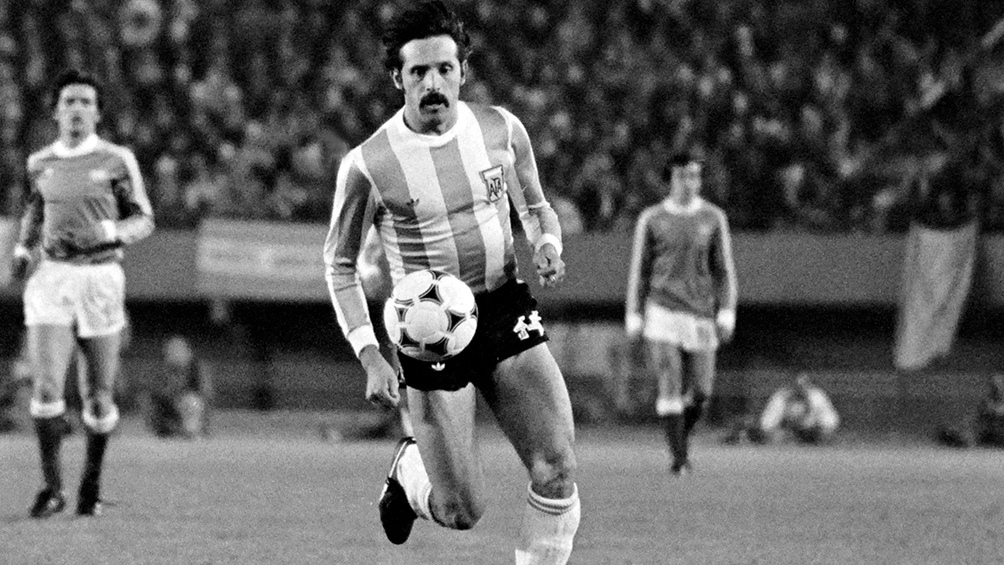 Con la camiseta de la selección, Luque hizo 22 goles, 4 de ellos en el Mundial 78.