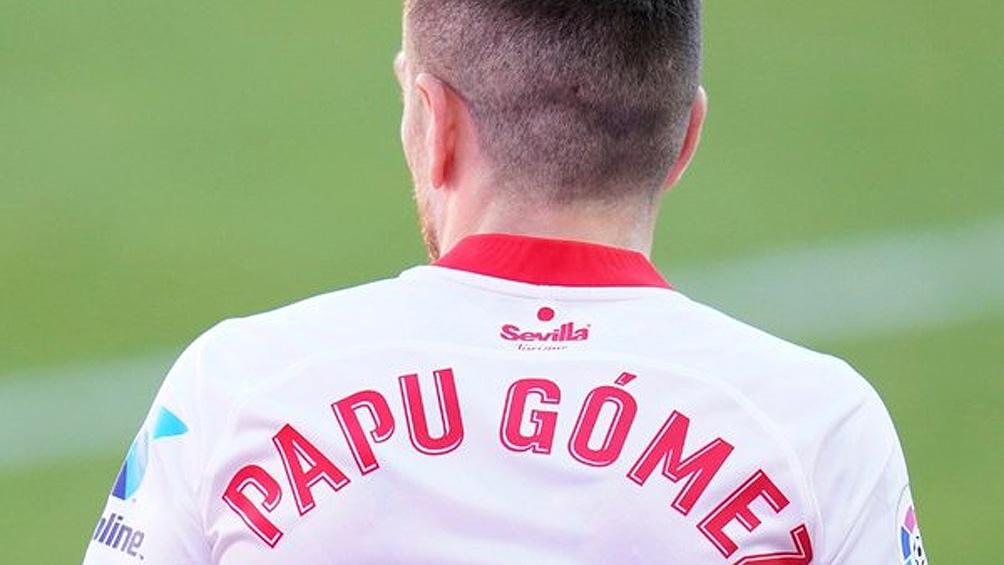 """Alejandro """"Papu"""" Gómez juega su primer partido en la Champions para el Sevilla."""