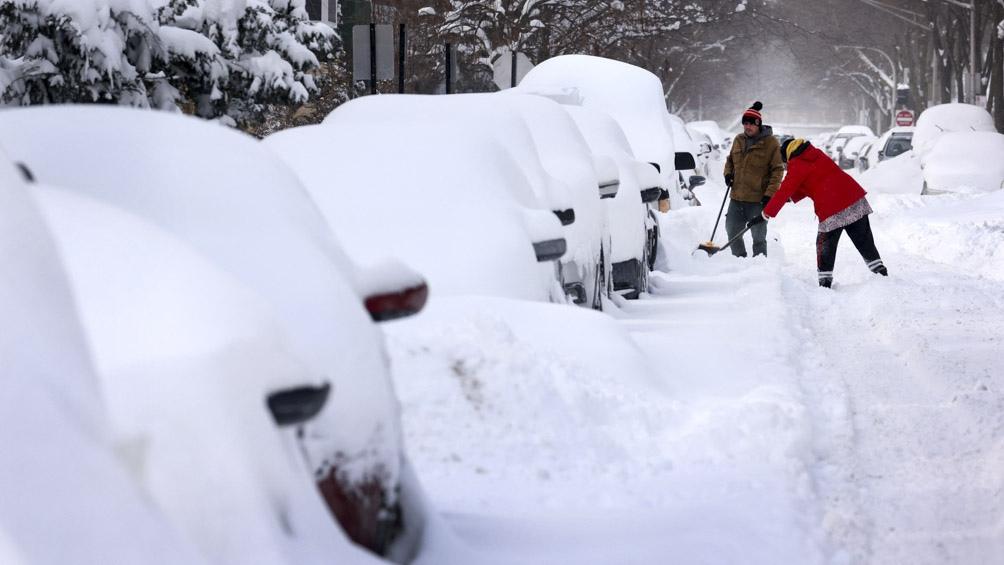 """El frío podría mantenerse """"en el centro-sur de Estados Unidos hasta el sábado por la mañana""""."""