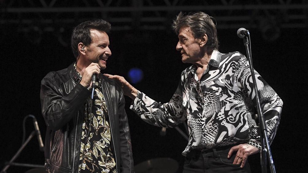 El máximo trovador del rock argentino Moris y su hijo Antonio Birabent.