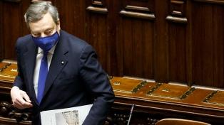 Draghi fue confirmado como primer ministro italiano por el Parlamento