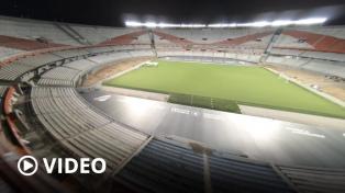 Está listo el césped de última generación del estadio de River y se estrena el sábado