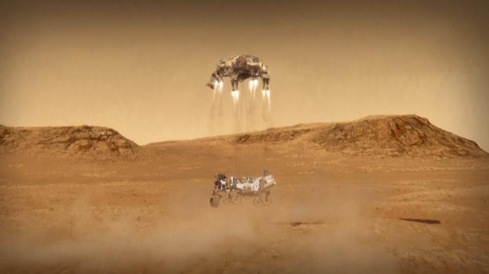 """El Perseverance """"ha descendido en el cráter Jezero, que se estima, fue una cuenca de agua muy importante en Marte""""."""