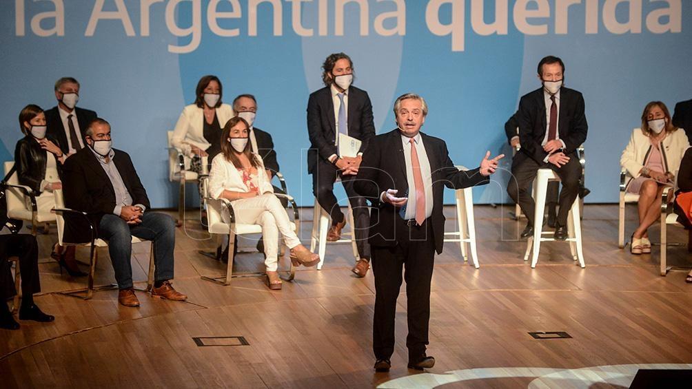 Presidente Alberto Fernández no Conselho Econômico e Social