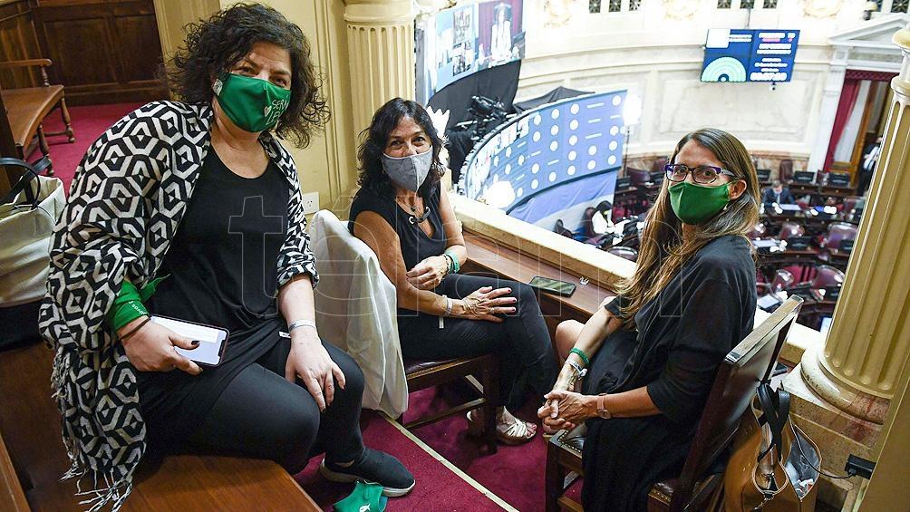 Vizzotti en el Congreso, durante el tratamiento de la Ley de Interrupción Voluntaria del Embarazo.