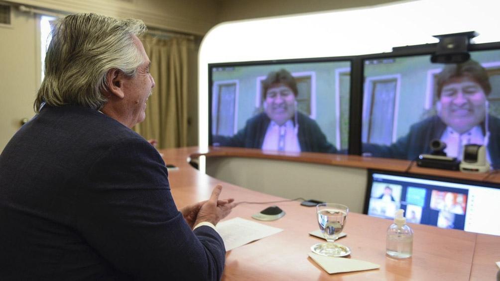 Alberto Fernández se reunio con ambos legisladores del Movimiento al Socialismo y con el expresidente Evo Morales.