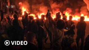 Quinta noche de incidentes por el encarcelamiento del rapero Hasel