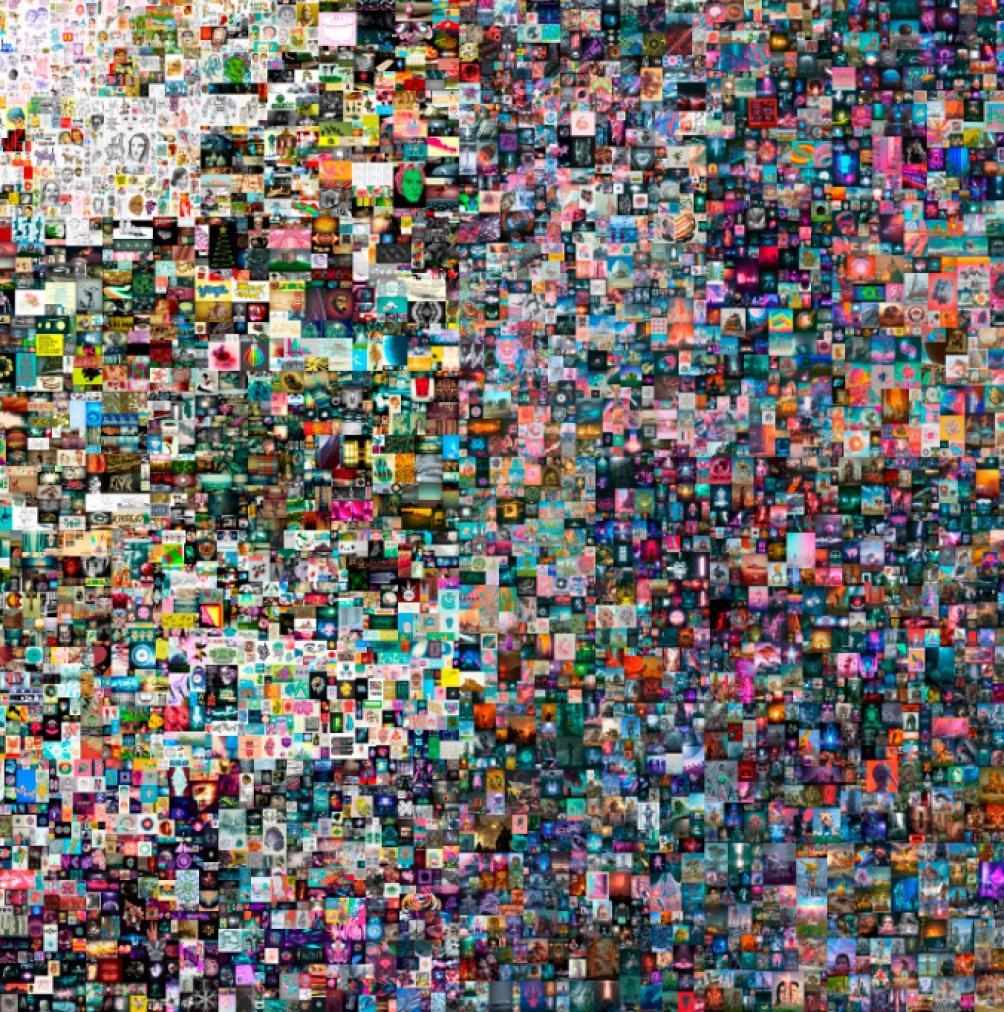 """El collage de """"Everydays: The First 5000 Days"""", las 5000 obras digitales en una sola imagen."""