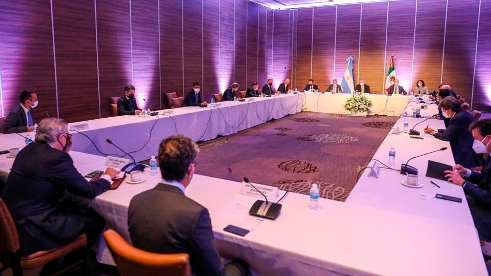 El presidente Alberto Fernández compartió un encuentro con empresarios mexicanos.