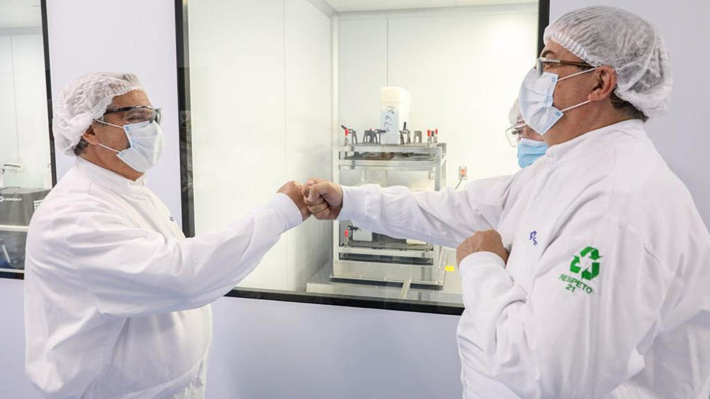 Como parte del convenio mAbxience fabrica en la Argentina la sustancia activa