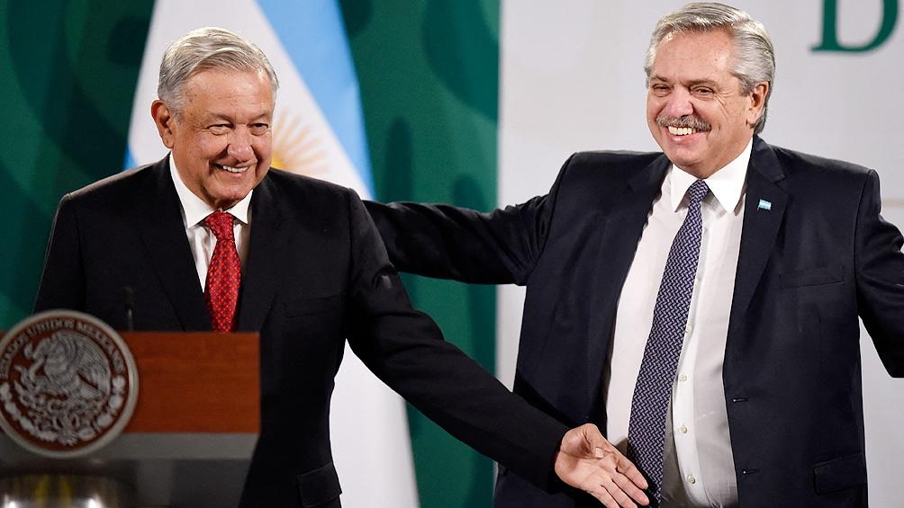 Fernández encabezó una conferencia de prensa junto a su par, Andrés Manuel López Obrador