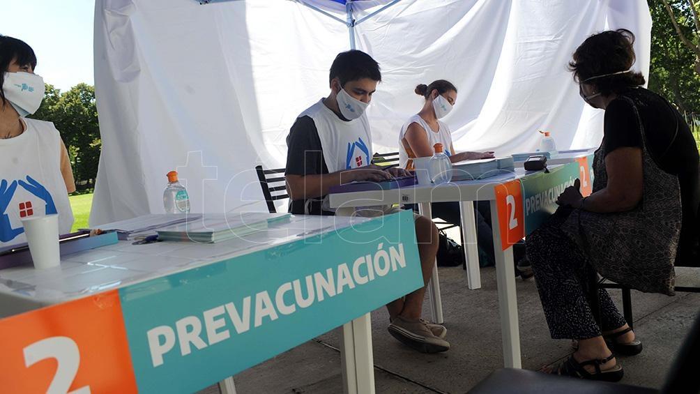 Los centros de vacunación están en todos los partidos bonaerenses.