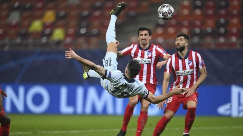 Atlético de Madrid perdió ante el Chelsea en Rumania