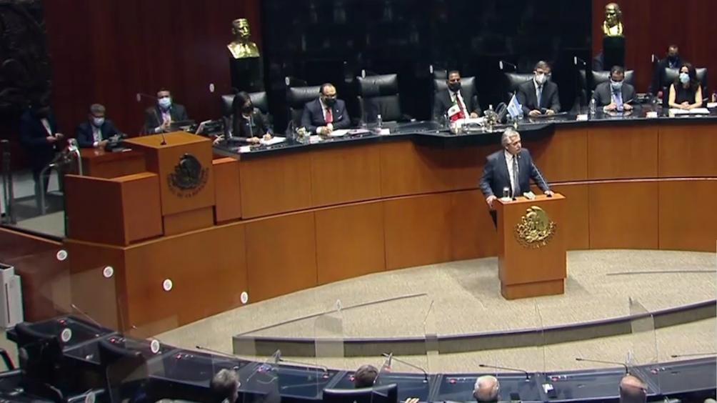 Alberto Fernández habló ante el cuerpo legislativo mexicano como parte de la agenda de su visita al país azteca.