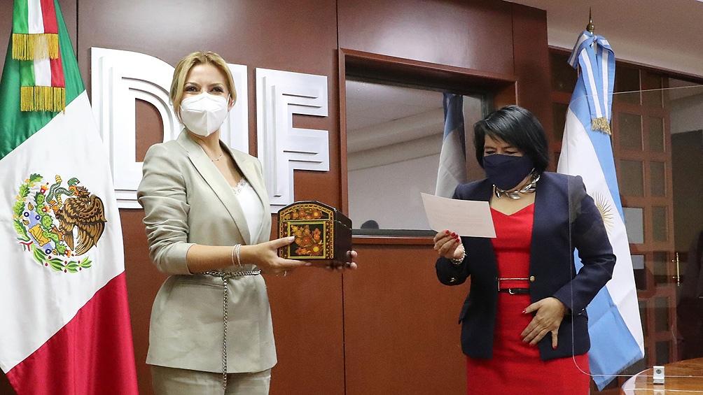 La primera dama Fabiola Yañez en México