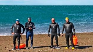 Continúa la travesía de los nadadores en homenaje a los tripulantes del ARA San Juan