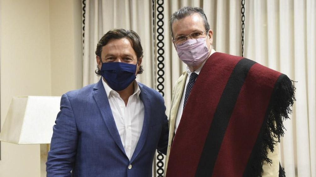 Bauer coordinó con el gobernador Gustavo Sáenz los homenajes a Güemes.