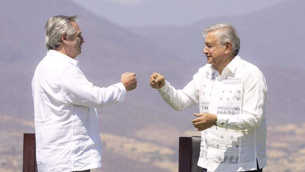 Alberto Fernández y Andrés Manuel López Obrador.