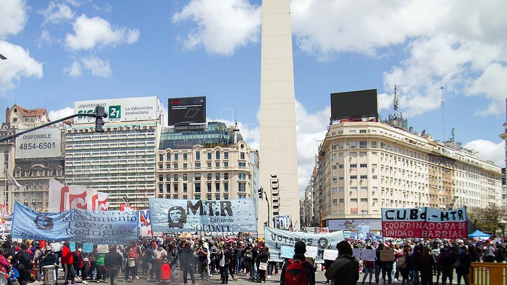 Las organizaciones sociales denuncian al Gobierno porteño
