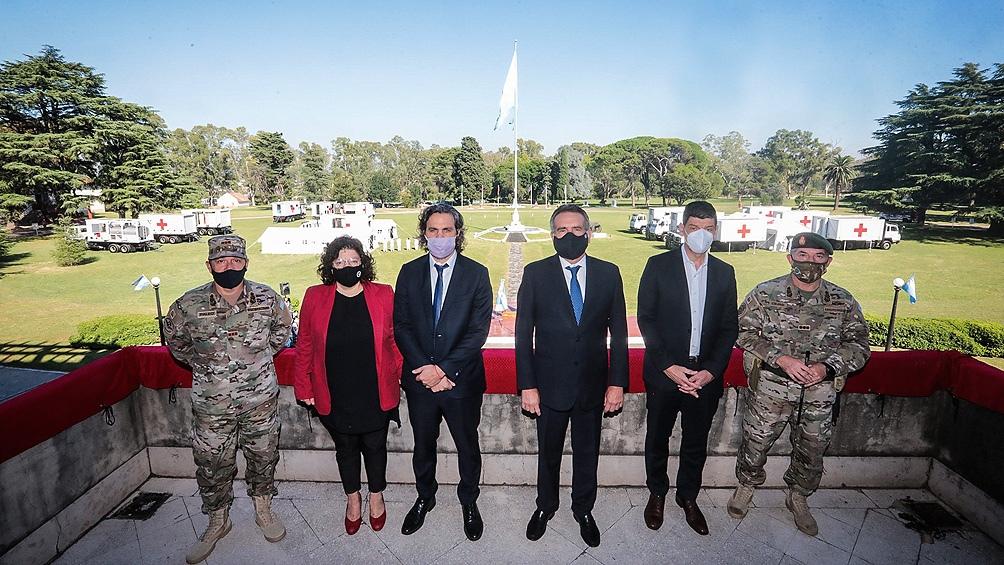 La recorrida se realizó en la sede de la Dirección de Educación Operacional del Ejército Argentino, en Campo de Mayo.