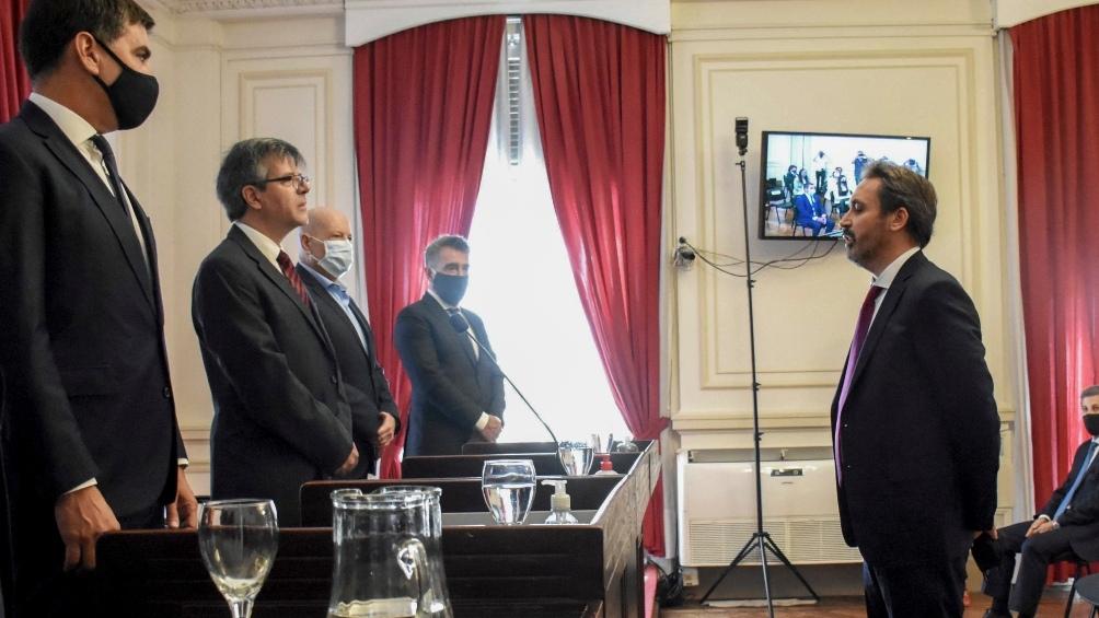 Ramos Padilla prestó este viernes el tradicional juramento ante el presidente de la Cámara Federal de La Plata.