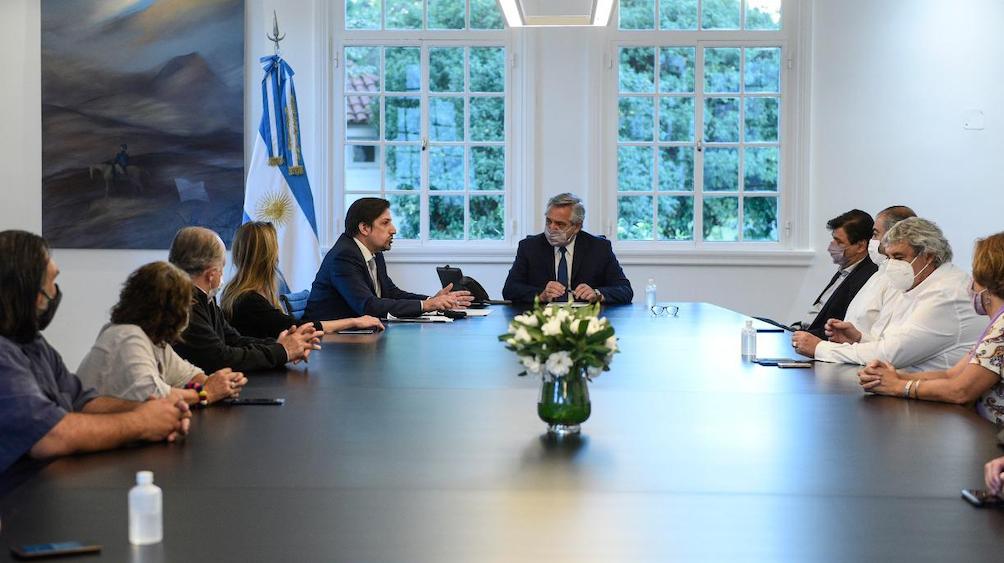 Reunión en Olivos con el Presidente.