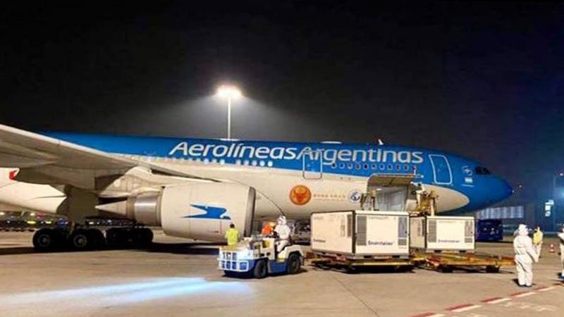 Octavo vuelo de Aerolíneas a Rusia para traer vacunas