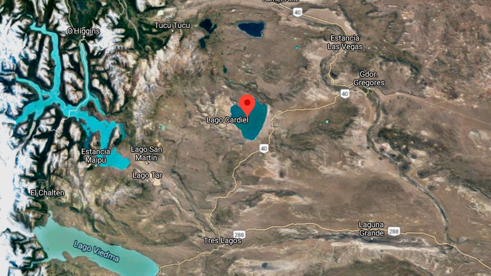 Un mapa satelital que muestra la zona donde ocurrió el accidente.