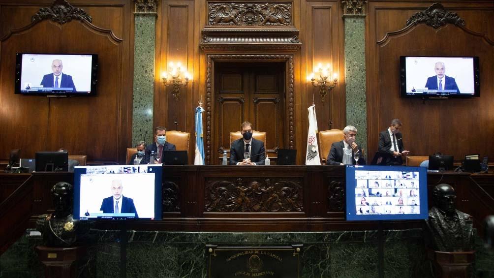 Rodríguez Larreta abrió las sesiones de forma remota.