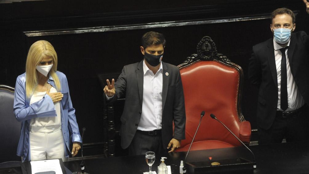 El mandatario ofreció el tradicional discurso ante la Asamblea Legislativa en el recinto de la Cámara de Diputados provincial, en La Plata.