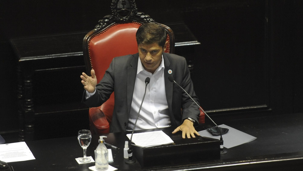 Kicillof encabezó la apertura de sesiones por la tarde en La Plata.