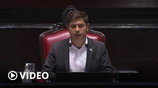 Kicillof anunció medidas para reactivar la economía bonaerense y la desdolarización de las tarifas