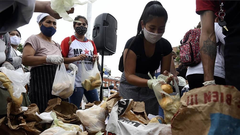 Se entregaron cerca de 1.000 kilos de pan.