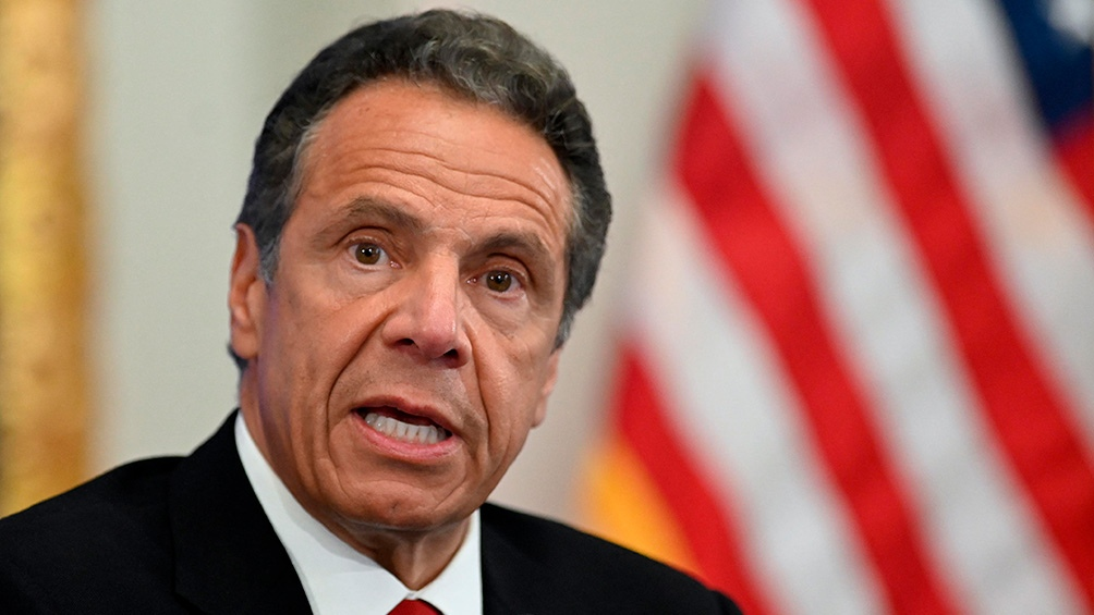 Andrew Cuomo, gobernador de Nueva York denunciado por acoso.
