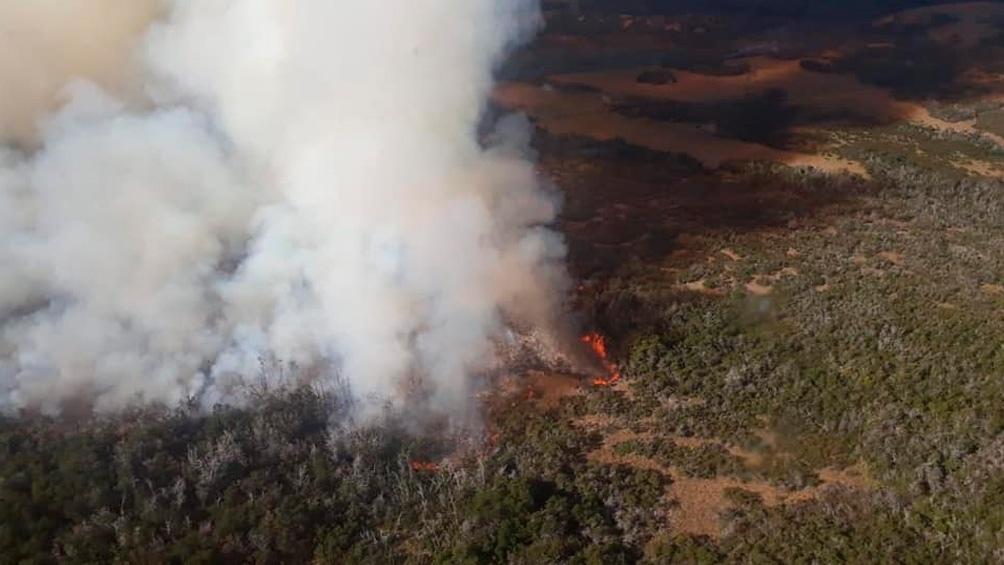 Continúan activos los focos de incendios forestales en Río Negro y Chubut