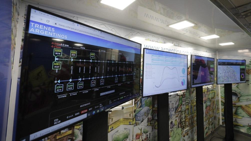 El personal de fiscalización también controló la frecuencia de los trenes.