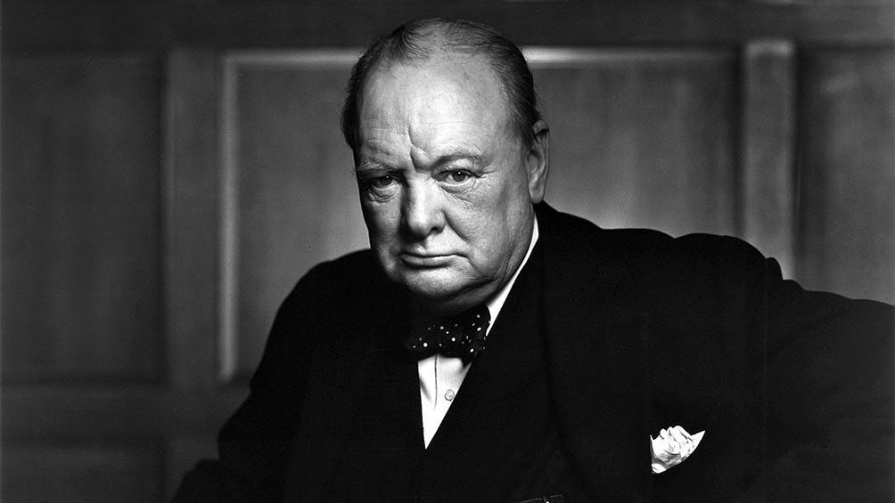Churchill, el ex primer ministro británico que vislumbró la llegada al poder del dictador Adolf Hitler.