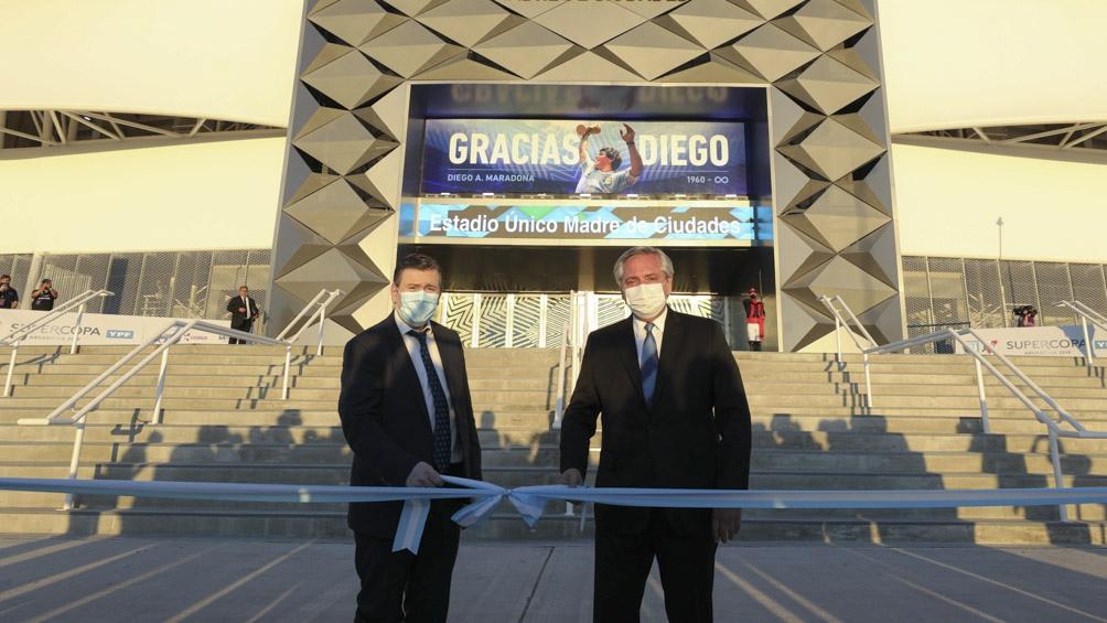 Zamora y Alberto Fernández inauguraron el Estadio Único Madre de Ciudades en Santiago del Estero