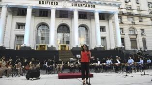 Se presentó la Orquesta de Mujeres de las Fuerzas Armadas