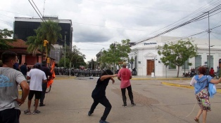 """El ministro de Gobierno dijo que """"no fue pacífica"""" la protesta y reivindicó la fase 1"""