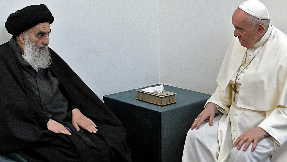El encuentro con el gran ayatollah, Alí al Sistani.