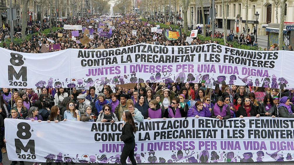 La voz de las mujeres se hizo oir en Barcelona.