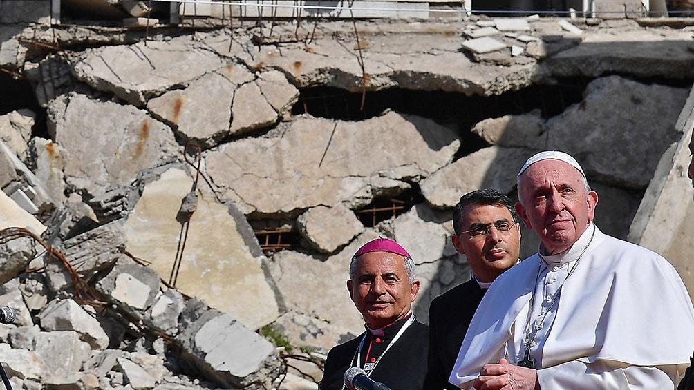 El Papa recorrió dos de las ciudades más golpeadas por la milicia del Estado Islámico, Mosul y Qaraqosh.