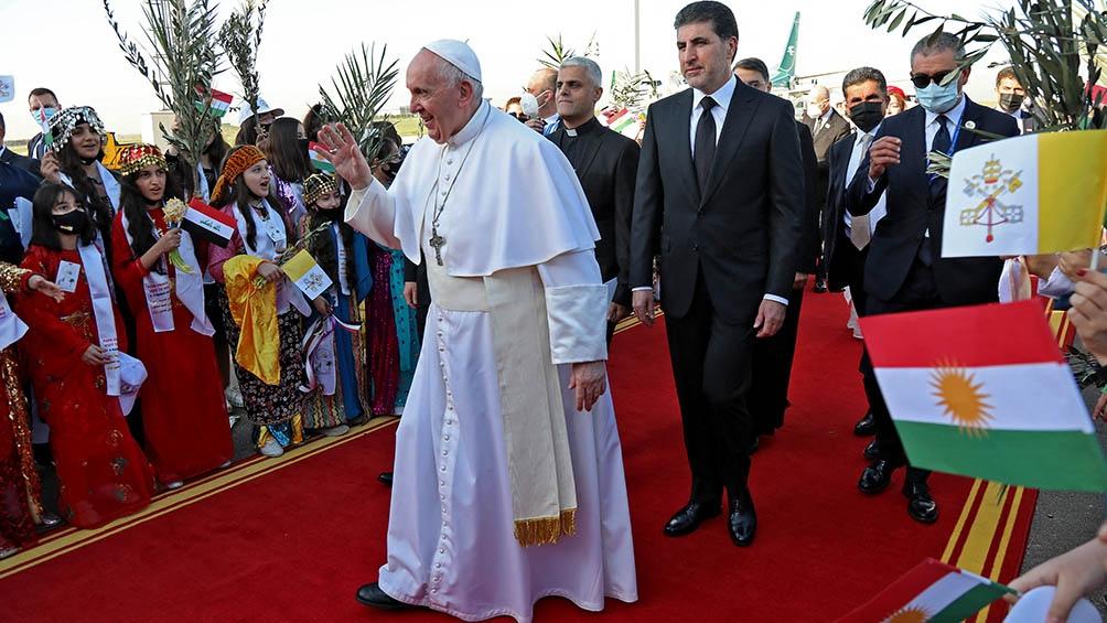 El Papa Francisco en su visita a Irak.