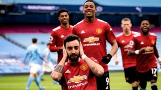 El United puso fin a la racha ganadora del City en el clásico de Manchester