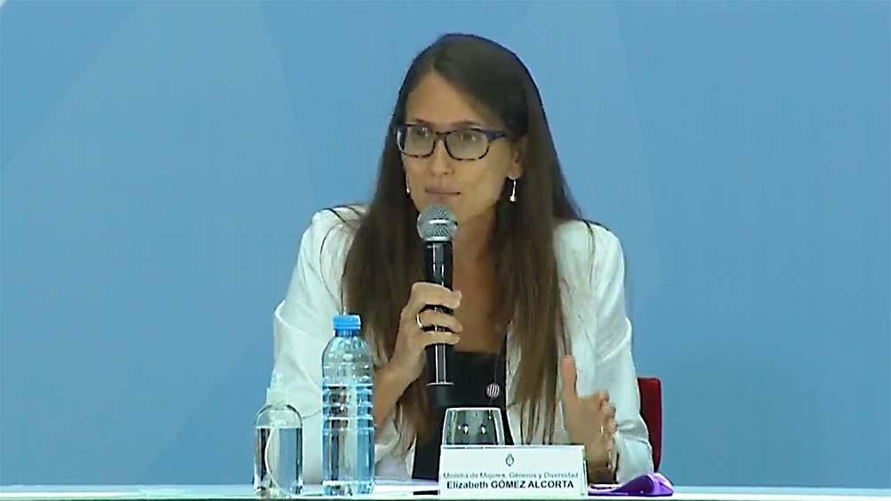 La ministra participó de la firma del Acuerdo Federal sobre violencia de género en la Casa Rosada.